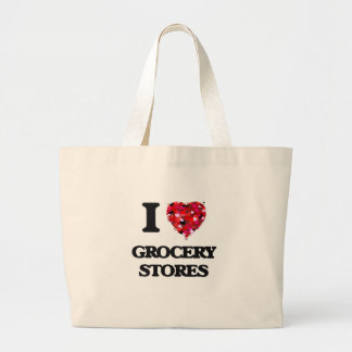 I Love Grocery Stores Jumbo Tote Bag