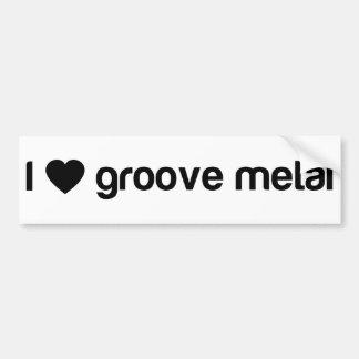 I Love Groove Metal Bumper Sticker