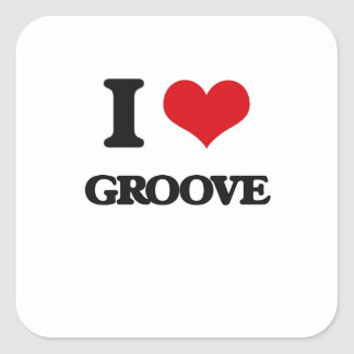 I love Groove Square Stickers