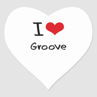 I Love Groove Heart Stickers