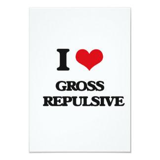"I love Gross   Repulsive 3.5"" X 5"" Invitation Card"