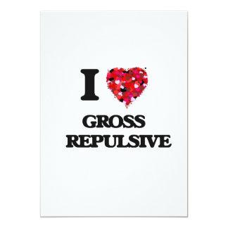 I Love Gross   Repulsive 13 Cm X 18 Cm Invitation Card