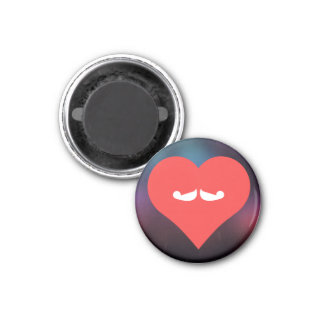I Love Growing Moustaches Cool Symbol 3 Cm Round Magnet