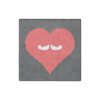 I Love Growing Moustaches Cool Symbol Stone Magnet