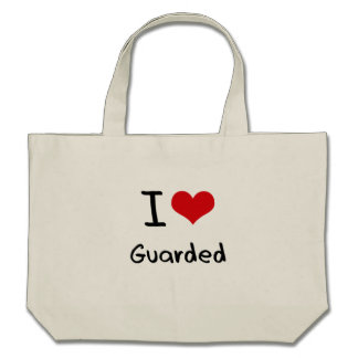 I Love Guarded Tote Bags