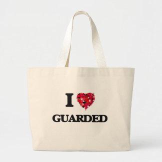 I Love Guarded Jumbo Tote Bag