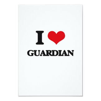 "I love Guardian 3.5"" X 5"" Invitation Card"