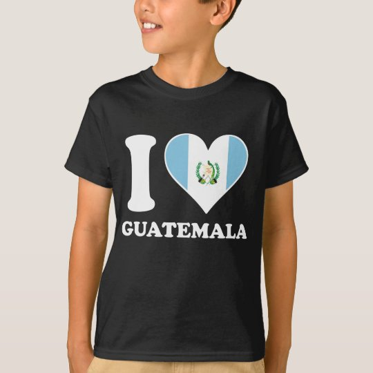 I Love Guatemala Guatemalan Flag Heart T-Shirt