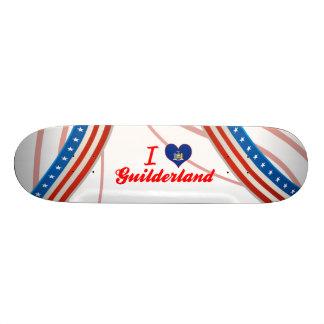 I Love Guilderland, New York Skateboard