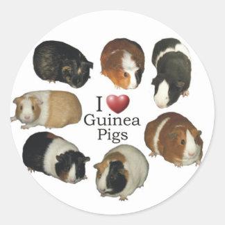 I Love Guinea Pig Stickers