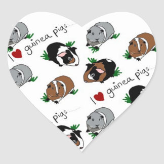 I love guinea pigs heart sticker