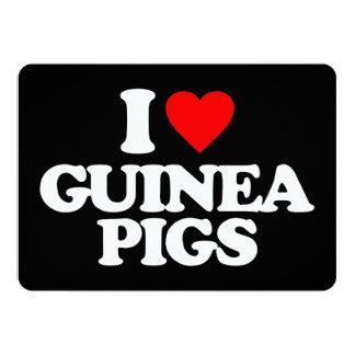 I LOVE GUINEA PIGS PERSONALIZED ANNOUNCEMENT