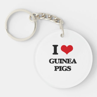 I love Guinea Pigs Acrylic Key Chains