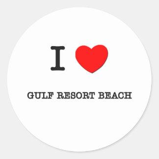 I Love Gulf Resort Beach Florida Stickers