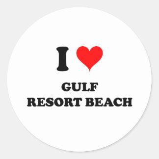 I Love Gulf Resort Beach Florida Sticker
