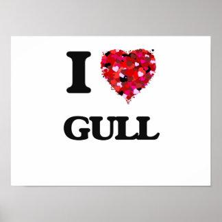 I Love Gull Poster