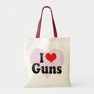 I Love Guns Budget Tote Bag
