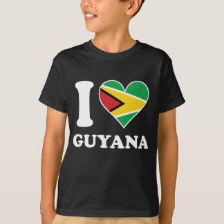 I Love Guyana Guyanese Flag Heart T-Shirt