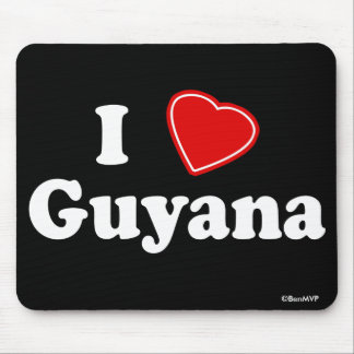 I Love Guyana Mouse Pad