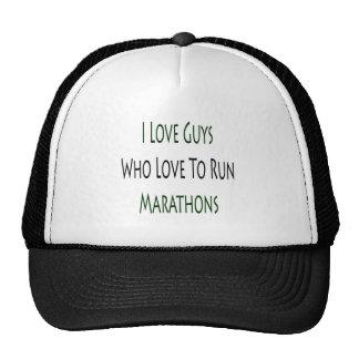 I Love Guys Who Love To Run Marathons Mesh Hats