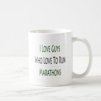 I Love Guys Who Love To Run Marathons Mug
