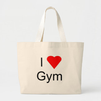 I love gym canvas bags