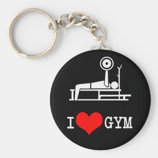 I Love GYM Basic Round Button Key Ring