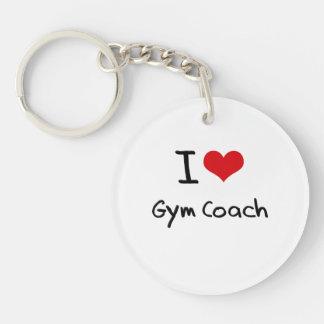 I Love Gym Coach Single-Sided Round Acrylic Key Ring