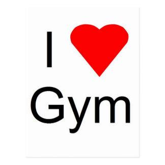 I love gym postcard