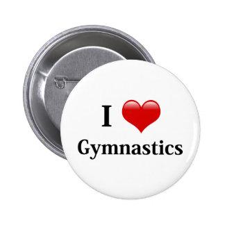I Love Gymnastics 6 Cm Round Badge