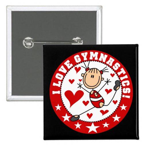 I Love Gymnastics Pin