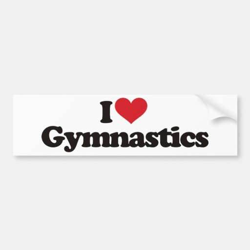 I Love Gymnastics Bumper Stickers