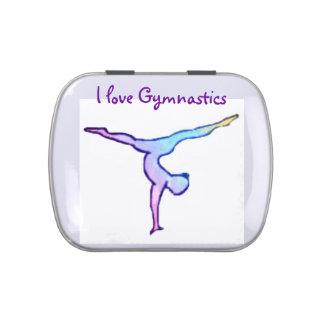"""I Love Gymnastics"" candy tin"