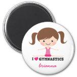 I love gymnastics cartoon girl personalised name