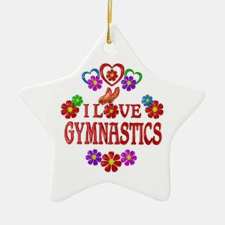 I Love Gymnastics Ceramic Star Decoration