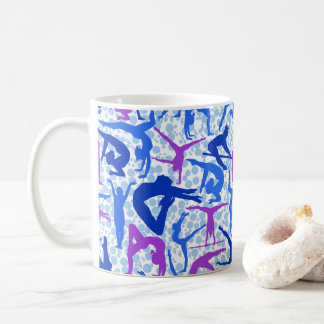 I LOVE Gymnastics Coffee Mug Blue & Purple