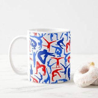I LOVE Gymnastics Coffee Mug Red, White & Blue