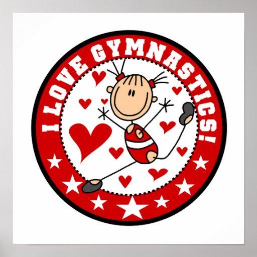 I Love Gymnastics Print