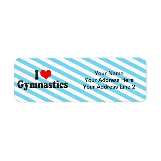 I Love Gymnastics Return Address Label