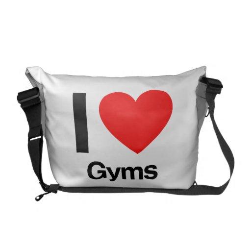 i love gyms messenger bag