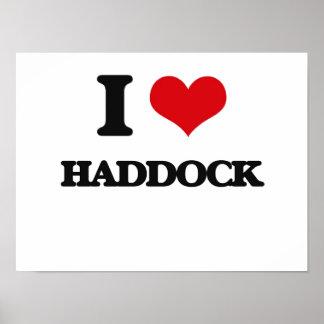 I love Haddock Poster