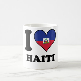 I Love Haiti Haitian Flag Heart Coffee Mug