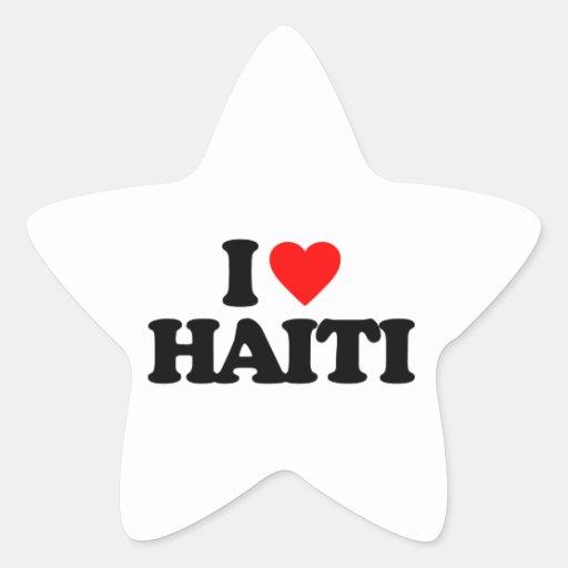 I LOVE HAITI STICKER