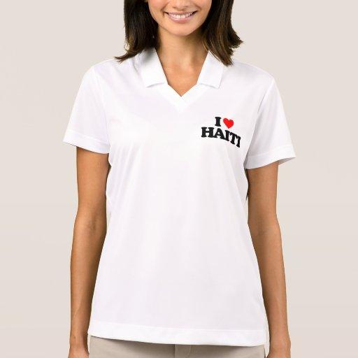 I LOVE HAITI POLO SHIRT