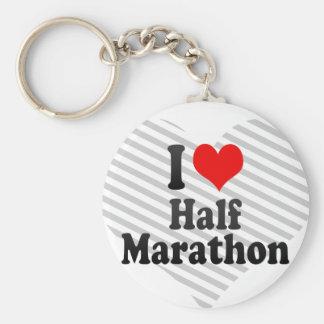 I love Half Marathon Keychain
