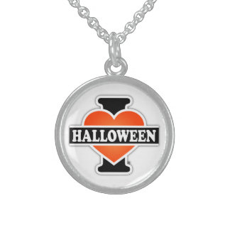 I Love Halloween #1 Round Pendant Necklace
