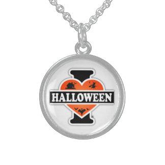 I Love Halloween #2 Round Pendant Necklace
