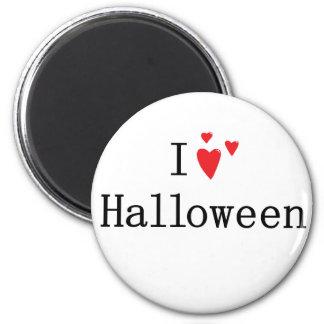 I Love Halloween 6 Cm Round Magnet