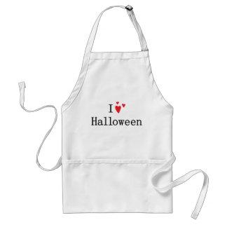 I Love Halloween Adult Apron