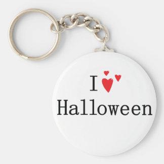 I Love Halloween Basic Round Button Key Ring